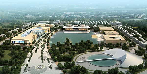 A rendering of the planned Tianjin City Culture Center Development.