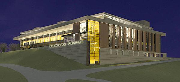 A rendering of Towson's new $68 million arena set to break ground in May.