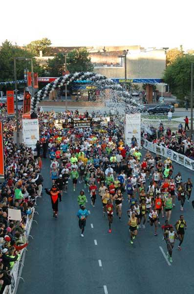 About 26,100 runners participated in the 2012 Under Armour Baltimore Running Festival.
