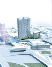 A rendering of the proposed project near Penn Station.