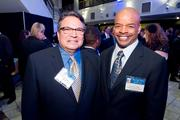 Luis Borunda, CEO of U.S. Hispanic Youth Entrepreneur Education; and Kenneth Banks, president of Banks Contracting Co.