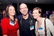 Christina Gross, account executive at Chesapeake AED Services; Jason Cohen, owner of Rockit Digital Media; Julianna Wittig, senior marketing associate at CliftonLarsonAllen.