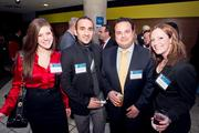 Paige Wilamowski, IT recruiter at Mergis Group; Arsham Mirshah, vice president of analytics and technology at WebMechanix; Brian Razzaque, CEO of VMT/Social Toaster; Mary McQuaid, executive recruiter at Mergis Group.