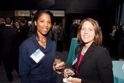 Tynese Daniels of Hot Bodies, along with Amanda Blankenship, assistant director for career services at McDaniel College.