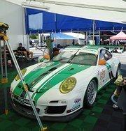 Black Swan Racing's Porsche 911 GT3 Cup No. 54 car. The car is driven by Tim Pappas, Jeroen Bleekemolen, Sebastiaan Bleekemolen and Damien Faulkner.