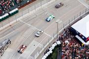 A birds-eye view of the American Le Mans Series race on Sept. 3 at the intersection of Pratt and Light streets.
