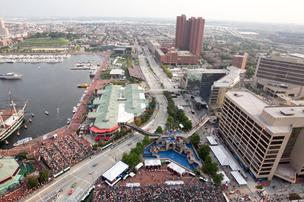 2011 Baltimore Grand Prix aerial view