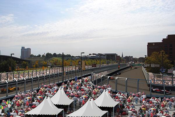An artist's rendering of what the Baltimore Grand Prix is expected to look like along Light Street.