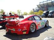 The No. 45 Porsche 911 GT3 RSR from Flying Lizard Motorsports. Drivers are Jorg Bergmeister and Patrick Long.