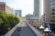 A rendering of what the strip along Pratt Street, facing east, will look like during the Baltimore Grand Prix.