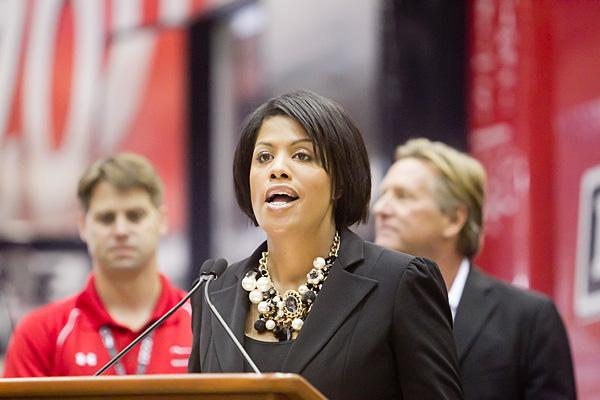 Mayor Stephanie Rawlings-Blake at a kick off event for the Baltimore Grand Prix on Friday.