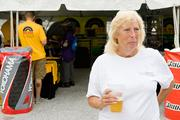 Sandy Morgan of Joppatowne takes in the festivities of the first day of the Baltimore Grand Prix.