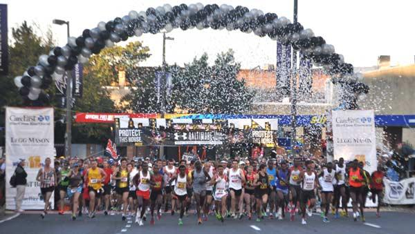 The Under Armour Baltimore Running Festival draws more than 20,000 participants annually.