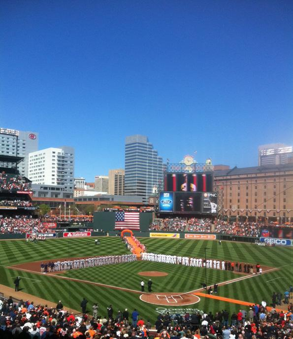The Baltimore Orioles opened their 2012 season at home April 6 against the Minnesota Twins.