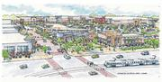 An artist's rendering of the Canton Crossing development under construction.