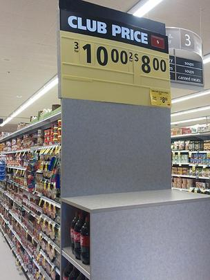 The Safeway in Canton ran out of bottled water on Friday as shoppers stocked up ahead of Hurricane Irene.