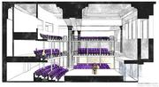 An artist's rendering of the 250-seat Chesapeake Shakespeare Co. theater in the Redwood Trust building downtown.