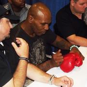 Boxer Mike Tyson signs autographs at the 2011 National Sports Collector Convention in Chicago. He plans to attend the 2012 event in Baltimore.