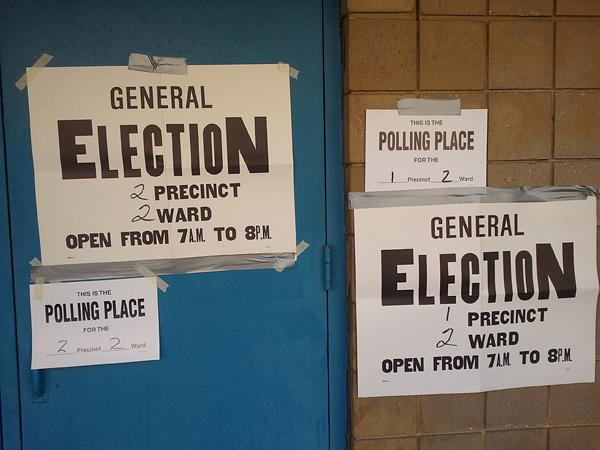 A low turnout was expected Tuesday in Baltimore's general election.