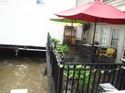 Flooding led to high water on Thursday at eateries along Main Street in Ellicott City.
