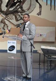 Exelon executive Calvin Butler speaks at an event Tuesday announcing the donation of $1.8 million to the Maryland Science Center.