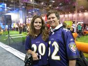 Ginny and Tim O'Connor of Montgomery County are attending their first Super Bowl.