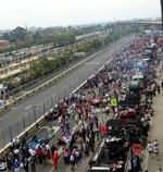Rain stays away for Grand Prix but so do some of last year's spectators