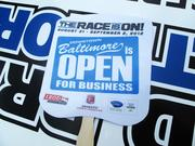 As construction of the track for the 2012 Baltimore Grand Prix started in July, organizers wanted to make it clear that business downtown would not be disrupted.