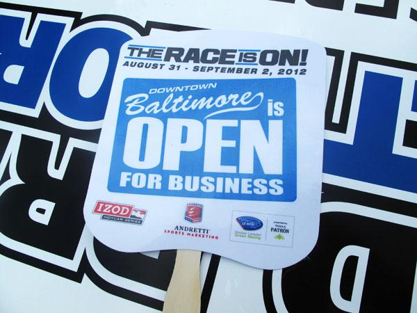 """Grand Prix of Baltimore organizers say """"Downtown Baltimore is open for business"""" during construction of the race's 2-mile course."""