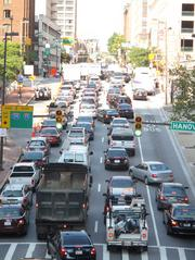The Baltimore Grand Prix led to traffic backups downtown on Thursday.