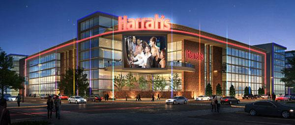 Plans for Harrah's Baltimore include 3,750 slot machines. Above, an artist's rendering of the project along Russell Street near M&T Bank Stadium.