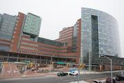"""The glass pattern on Johns Hopkins Medicine's new patient towers was inspired by a Claude Monet painting, """"Clouds Reflecting on a Water Lily Pond."""""""