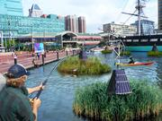 An artist's rendering of what a swimmable, fishable harbor would look in 2020. The Waterfront Partnership of Baltimore announced plans in December to help make this a reality.