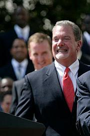 Colts owner: Jim Irsay. The outspoken owner took over the team from his father, Robert Irsay, who shocked Baltimore football fans in 1983 with the team's move to Indianapolis. Under Jim's watch, the team won a Super Bowl in 2007.
