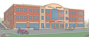 A rendering of the Johns Hopkins-Anne Arundel Medical Center health building in Odenton.
