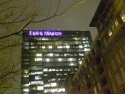 The Legg Mason tower in Harbor East lights purple for the Ravens. Atlantic Stage Lighting worked on the lighting services for the sign.