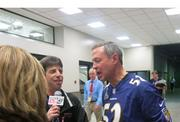 Gov. Martin O'Malley comments on the Ravens' Super Bowl victory as he departs the Superdome.