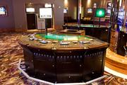 An electronic blackjack game in the high-rollers section of Maryland Live! Casino.