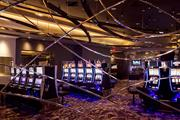 A glimpse at the high-roller slot machine area at Maryland Live! Casino.