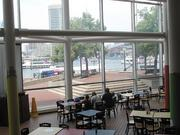 The Beaker's Cafe inside the Maryland Science Center offers views of the Inner Harbor.