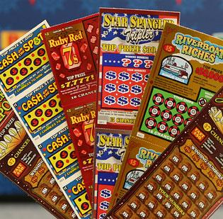 Scratch-off lottery tickets don't offer much of a payoff — even for thieves who steal mass quantities of them.