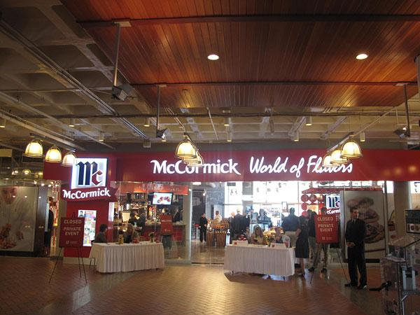 The McCormick World of Flavors store officially opened Wednesday in the Light Street Pavilion.