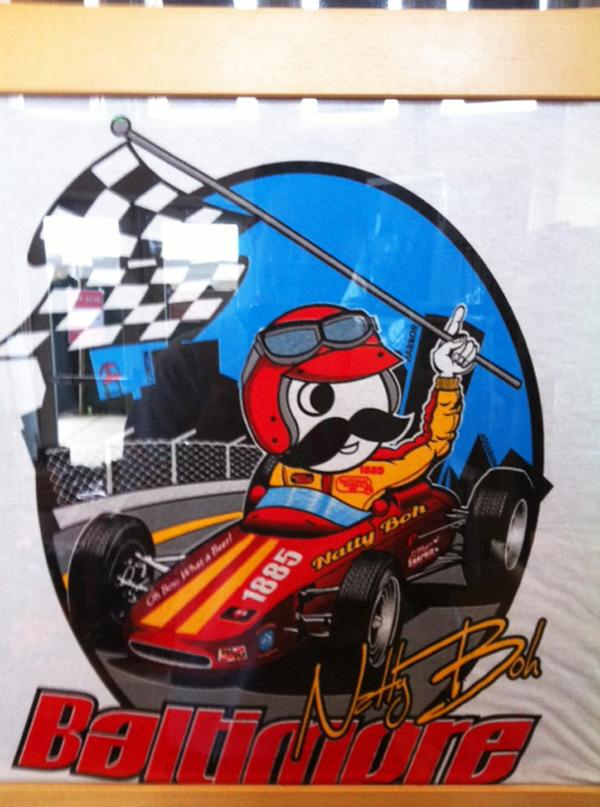 This Natty Boh-themed Baltimore Grand Prix shirt is a hot seller at the Sports Legends Museum during race weekend.