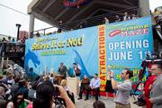 A press conference on Wednesday before Nik Wallenda starts his walk across the Inner Harbor. The walk was a promotion for Ripley's Believe It or Not, set to open at Harborplace June 1.