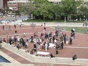 A crowd of around 40 gathered Tuesday at the Inner Harbor as part of Occupy Baltimore.