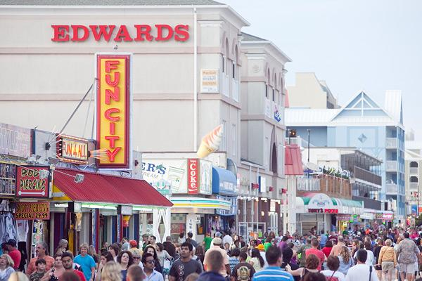 The unseasonably warm weather drove larger crowds to Ocean City during the winter season.