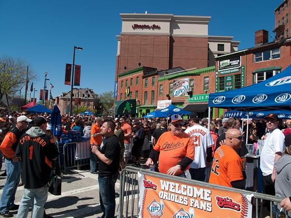 A scene from the Baltimore Orioles opening day of the 2012 season. The club had a scare on the way to St. Petersburg.