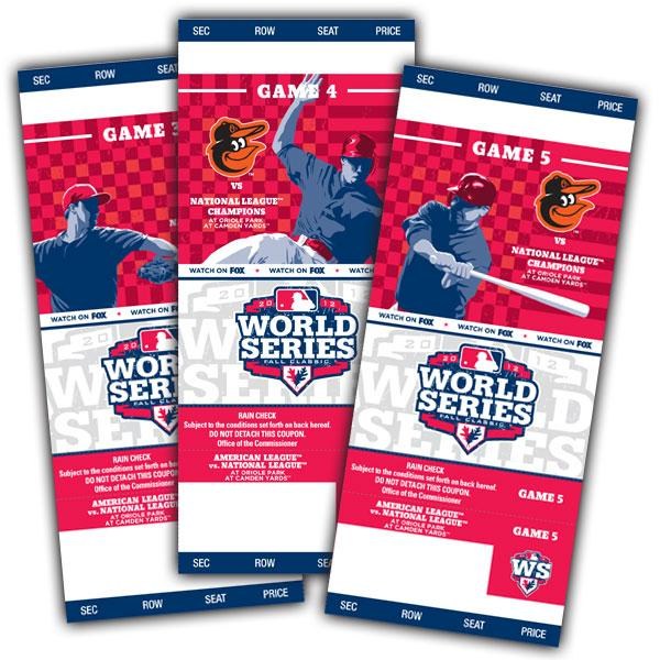 If the Orioles make the World Series, here's what the tickets would look like.