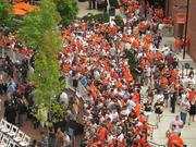 Fans entered the gates shortly after 5 p.m. for the unveiling of Cal Ripken Jr.'s statue.Photo by Jack Lambert