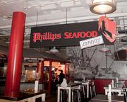 The Phillips Seafood Express stand inside Harborplace.